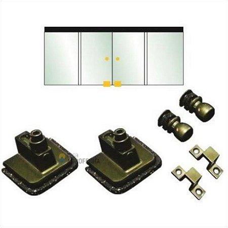 Kit 03 para Janelas de Correr com 4 Folhas (2 Vidros Fixos e 2 Janelas)