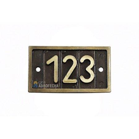 Placa Suporte para 3 Algarismos Isero 471 para Portas de Apartamento