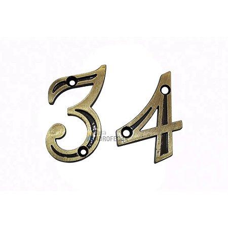 Algarismo Número São Valentim 55mm para Portas Antique