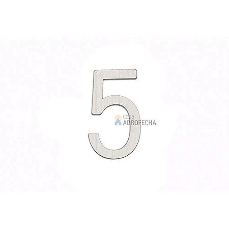 Algarismo Número Italy Line 30mm para Portas Cromado