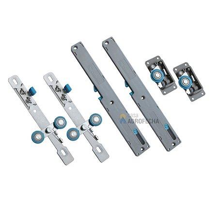 Kit Sistema de Correr Cermag Easy Soft 50 com 2 Amortecedores