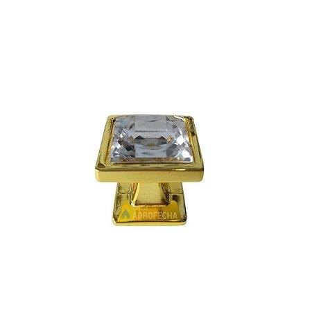 Puxador Ponto Quadrado Gardenia Cristal 25mm