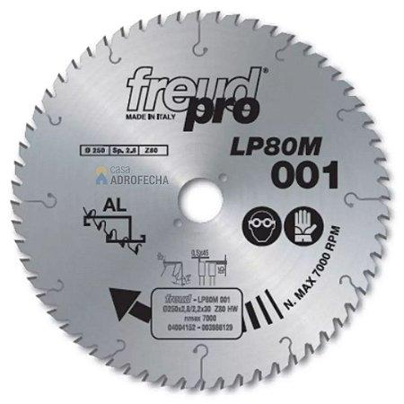 Serra Freud Trapezoidal para Alumínio LP80M 001 250mm 80 Wideas