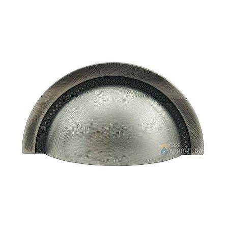 Puxador Concha Zen Shell Níquel Vecchio 64mm