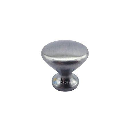 Puxador Ponto Cup Cromo Escovado 27mm Zen Design