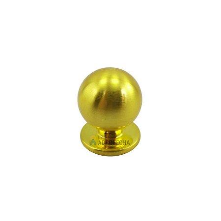 Puxador Ponto Bola Dourado Escovado 25mm