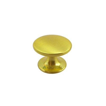 Puxador Margarida Dourado Escovado 27mm