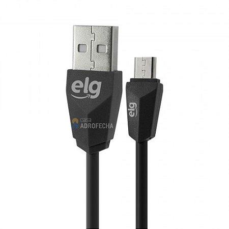 Cabo ELG EC510PT Micro USB 1 Metro Preto