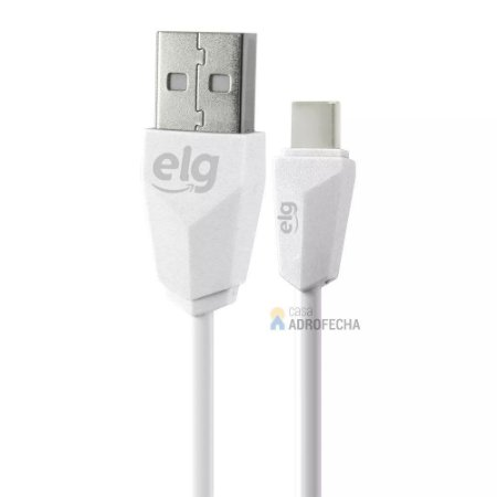 Cabo Reversível USB TIPO-C de 1 Metro TCUSBE Branco