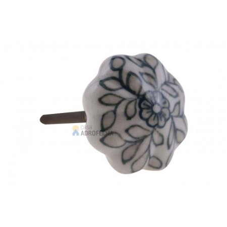 Puxador Cerâmico Venus Victrix 1126325 37mm Floral