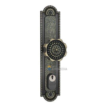 Fechadura Stam Perfil Metálico 601/02 Fixa Externa Colonial