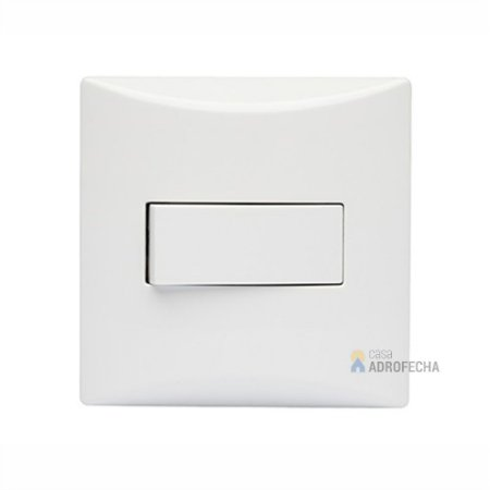Interruptor Simples com Espelho Quadrado 10A 250V~ Branco
