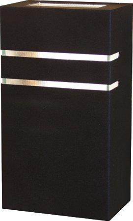 Arandela de Alumínio 22x12x8cm - Preta
