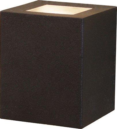 Arandela de Alumínio - 10x8x8CM - Preta