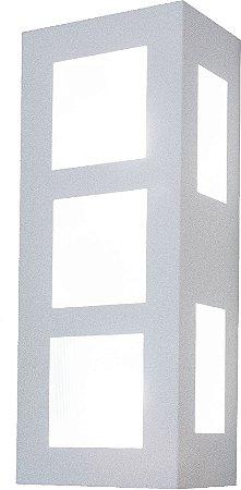 Arandela de Alumínio - 30x12x8cm - Preta