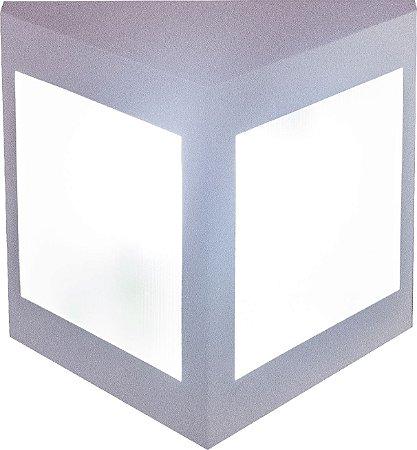 Arandela de Alumínio - 23x22x15cm - Branca