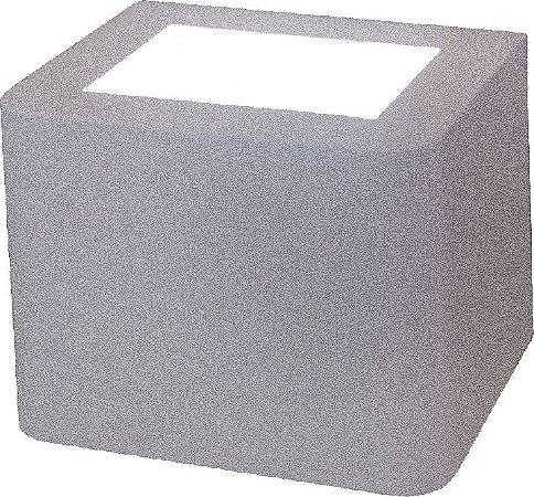 Arandela de Alumínio - 12x12x16cm - Branca