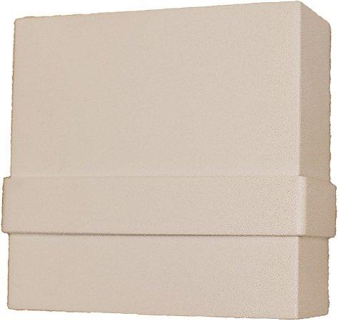 Arandela de Alumínio - 10x10x4cm - Branca