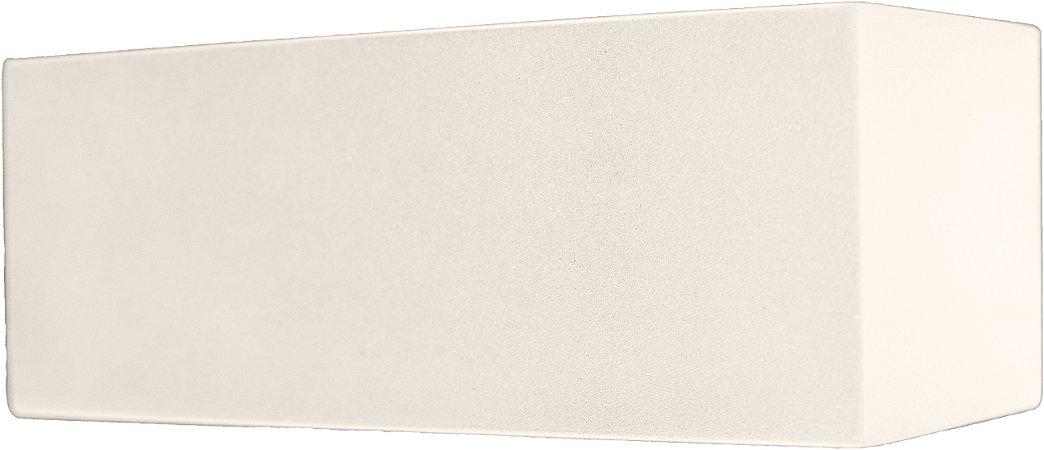 Arandela de Alumínio - 18x7x7cm - Branca