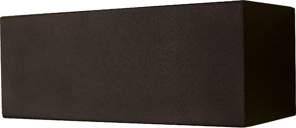 Arandela de Alumínio - 18x7x7cm - Preta