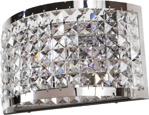 Arandela de Cristal - 30x19x11cm - Inox