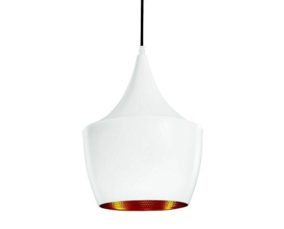 Pendente Branco/Dourado 1XBulbo MART 4101