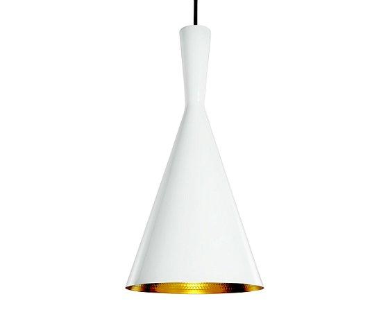 Pendente Branco/Dourado 1XBulbo MART 4103
