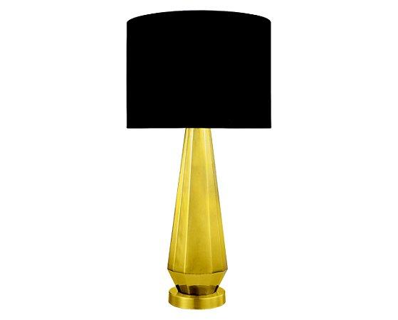 Abajur Vidro Dourado/Tecido 1XE27 MART 6571