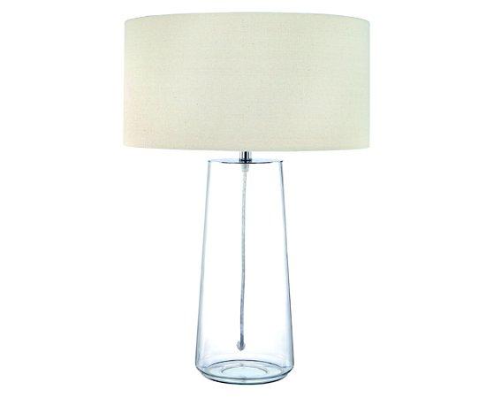 Abajur Vidro Transparente/Tecido 1XE27 MART 6564