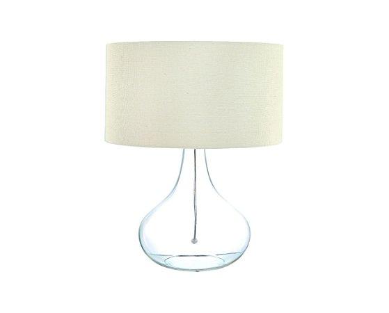 Abajur Vidro Transparente/Tecido 1XE27 MART 6565
