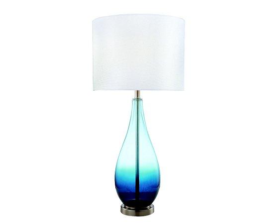 Abajur Vidro Azul/Tecido 1XE27 MART 6568