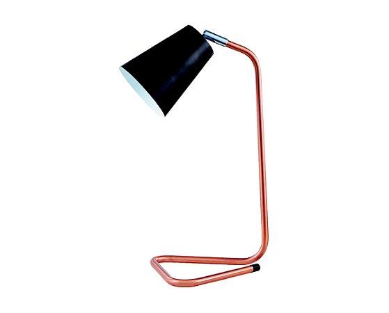 Luminaria de Mesa Metal Preto/Cobre 1XG9 MART 6111