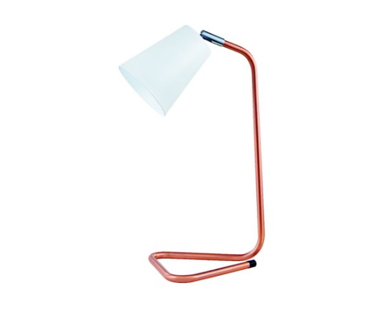 Luminaria de Mesa Metal Branco/Cobre 1XG9 MART 6112