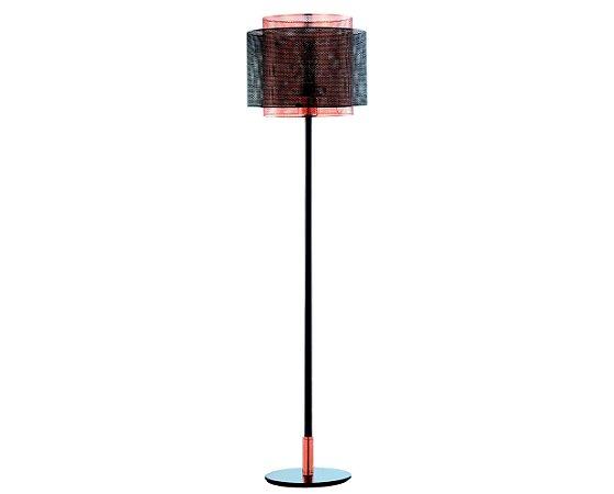 Luminaria de Chão Metal Preto/Cobre 1XBulbo MART 6515