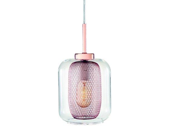 Pendente Vidro Transparente/Metal Cobre 1XBulbo MART 5698