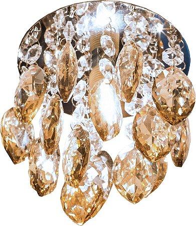 Embutido de Cristal Champanhe 1xG9 D&D EM-720/1
