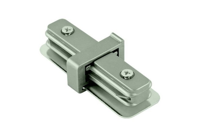 Conector em I Satin Silver para Trilho Eletrificado Satin Silver Stella SD1043ST