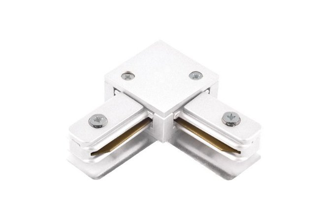 Conector em L Branco para Trilho Eletrificado Sobrepor Branco Stella SD1044BR