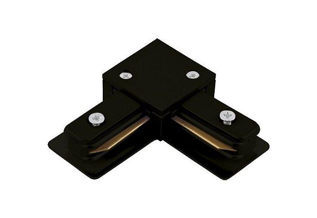 Conector em L Preto para Trilho Eletrificado Sobrepor Preto Stella SD1044PTO