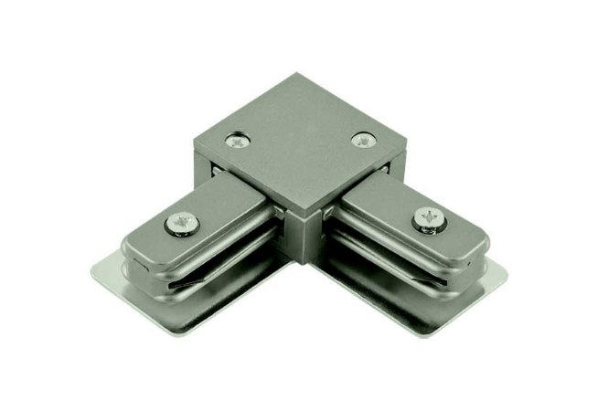 Conector em L Satin Silver para Trilho Eletrificado Sobrepor Satin Silver Stella SD1044ST