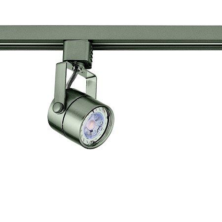 Spot Dicroica Satin Silver para Trilho Eletrificado Satin Silver Stella SD1050ST