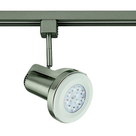 Spot PAR30 Satin Silver para Trilho Eletrificado Satin Silver Stella SD1070ST