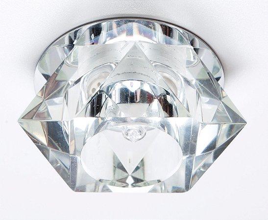 Semi Embutido de Cristal Transparente 8x6cm D&D EM-8048