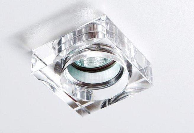 Semi Embutido de Cristal Transparente 8x8x4,7cm D&D EM-8105