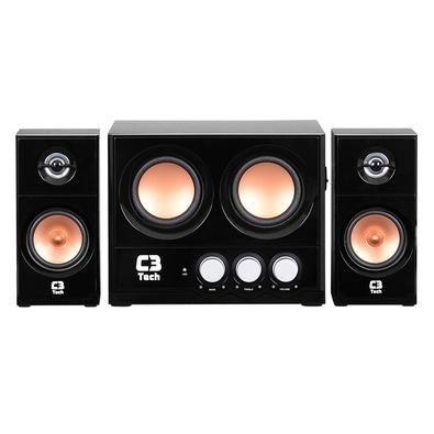 Caixa De Som C3tech 2.1 Sp-225s Bk Biv