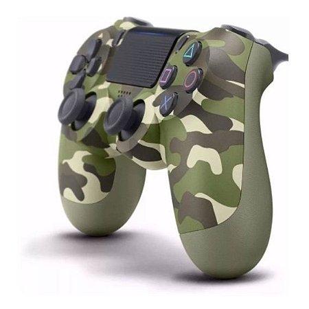 Controle Sem Fio Dualshock 4 Camuflado Verde Ps4 Wireless