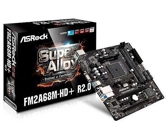 PLACA MAE ASROCK FM2A68M-HD + R2.0 DDR3