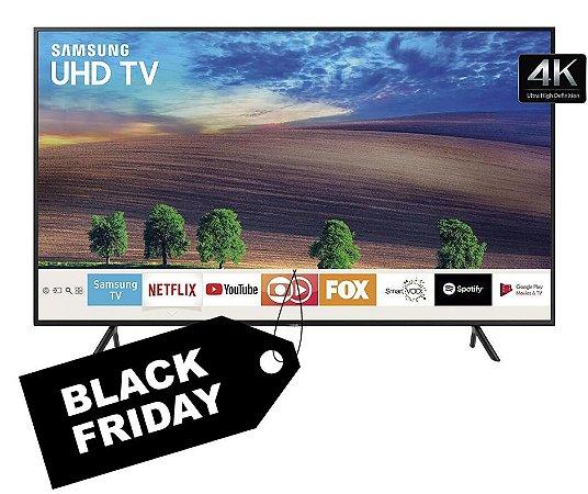 Smart TV LED 50´ UHD 4K RU7100 Samsung, 3 HDMI, 2 USB, Bluetooth, Wi-Fi, HDR - UN50RU7100GXZD