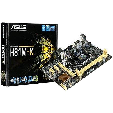 Placa Mãe H81M-K DDR3 Asus
