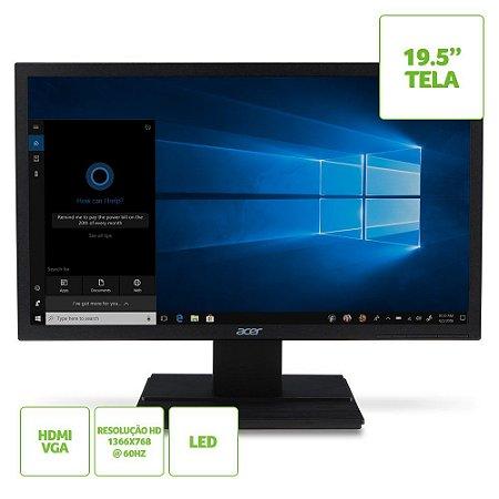 Monitor Acer 19,5 LED V206hql  Hdmi